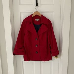 Merona 3/4 Sleeve Button Up Fall Jacket Coat, XL